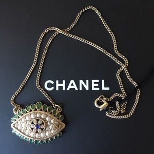 Chanel Evil Eye Necklace NWT